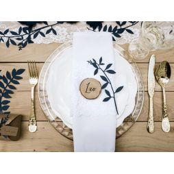 Bord dekoration blade marineblå