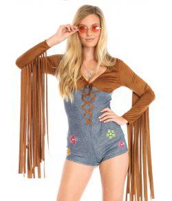 Boho Babe hippie kostume.