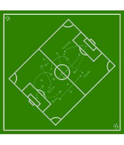 Fodboldbane dug 80x80 cm