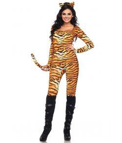 Flot tiger jumpsuit med hale.