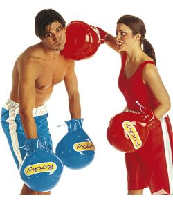 Oppustelige boksehandsker.