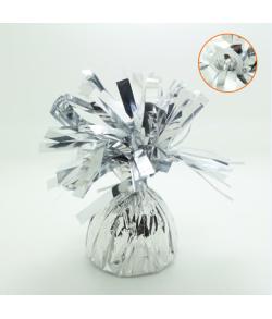 Sølv ballonvægt med øje pakket ind i folie. 170 g.