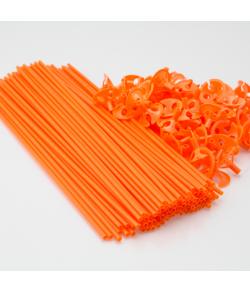 Orange ballonpinde 100 stk