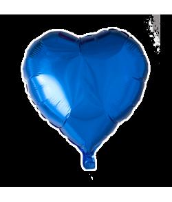 Folieballon Hjerte Blå 46 cm