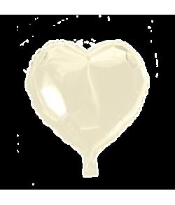 Elfenbenhvid folieballon, Hjerte