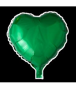 Grøn folieballon, Hjerte