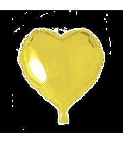 Gul folieballon, Hjerte