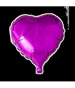 Hot pink folieballon, Hjerte
