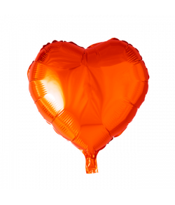 Orange folieballon, Hjerte