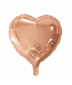 Rose Guld folieballon, Hjerte