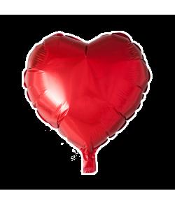 Rød folieballon, Hjerte