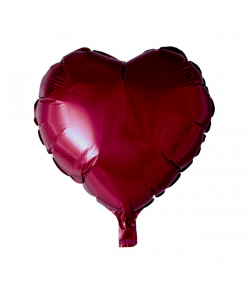Vinrød folieballon, Hjerte