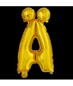 Guld folie ballon med bogstavet Ä