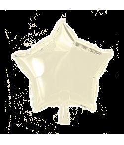 Elfenbenhvid folieballon, Stjerne