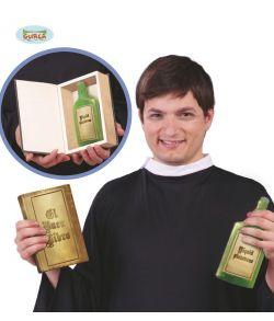 Bog med skjult flaske.