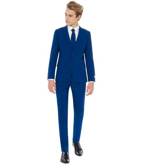 OppoSuits - Billigt mørkeblåt jakkesæt til teenagere.