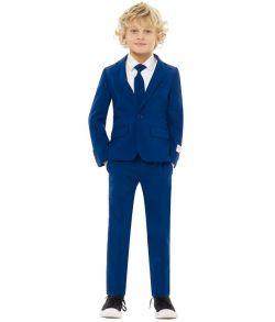 OppoSuits - Billigt mørkeblåt jakkesæt til drenge.