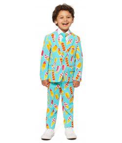 Sjovt OppoSuits jakkesæt med ispinde til drenge.