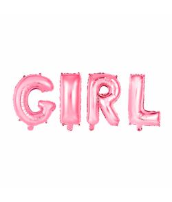 Folieballon GIRL rosa 41 cm