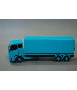 Sangskjuler, blå lastbil