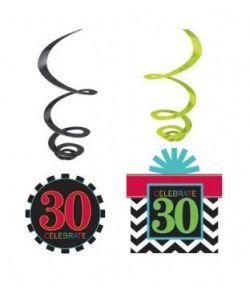 30 år fødselsdagspynt.