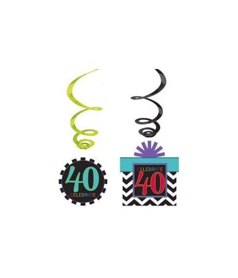 40 års fødselsdagspynt.