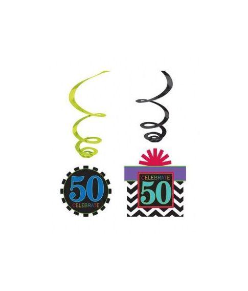 50 års fødselsdagspynt.