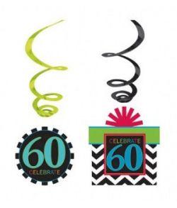 60 års fødselsdagspynt.