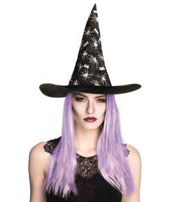 Heksehat med lilla hår