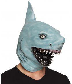 Blå haj maske