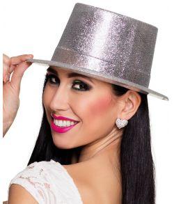 Høj sølv hat