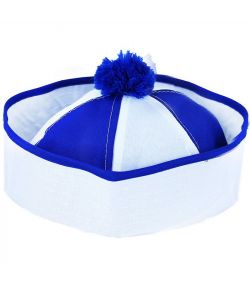 Matros hat blå og hvid