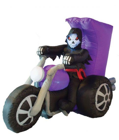 Oppustelig døden på motorcykel.