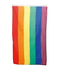 Regnbueflag, 60 x 90 cm.