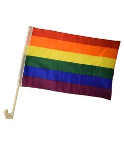 Regnbueflag til bil, 2 stk.