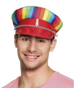 Rainbow rocker cap