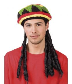 Rastahue med dreadlocks