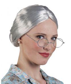 Granny wig, grå