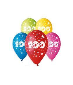 Balloner med tal 100