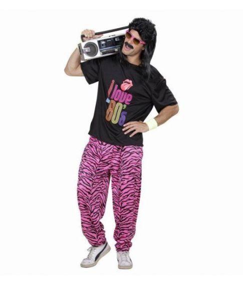 Sjovt 80er kostume til mænd.