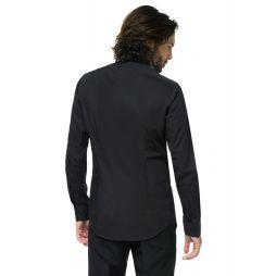 Sort ensfarvet skjorte fra OppoSuits.