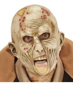 Zombie maske i gummi til børn.