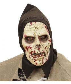 Zombie maske i skum med hætte.
