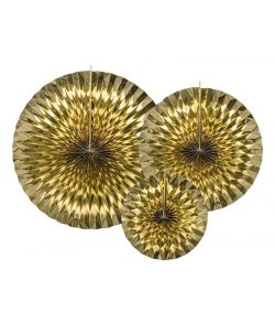 Dekorative rosetter guld 3 stk