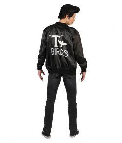 Sort T Bird jakke i soft med tryk til Grease udklædningen.
