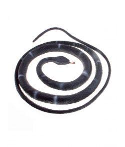 Sort og grå slange i gummi, 80 cm.