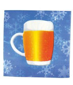 16 stk. servietter med øl motiv til Oktoberfesten.