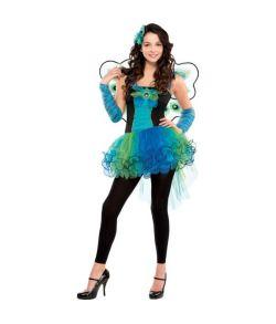 Flot påfugl kostume med kjole.