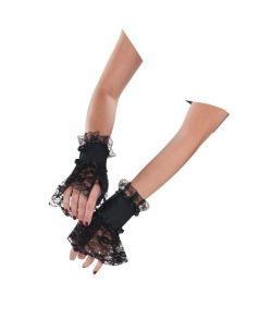 Fingerløse blonde handsker.