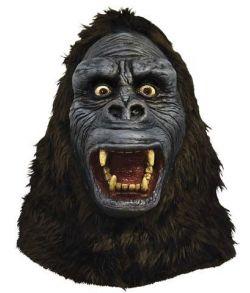 Latex Gorilla maske med pels.